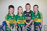 FINALS; The pupils of Raheen NS, Headford at the Allianz Cumann na mBunscoil County final at the Tralee Sports Complex on Friday l-r: Mikey Mullane, Kevin Bowler, Shane Warren and Tommy Bowler.