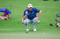 Shane Lowry (IRL) lines up his putt on 4 during Friday's round 2 of the PGA Championship at the Quail Hollow Club in Charlotte, North Carolina. 8/11/2017.<br /> Picture: Golffile | Ken Murray<br /> <br /> <br /> All photo usage must carry mandatory copyright credit (&copy; Golffile | Ken Murray)