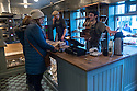 """Customers and staff at """"Braud"""" bakery, Reykjavik, Iceland"""