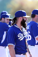 Brian Wilson of the Los Angeles Dodgers participates in the first day of spring training workouts at Camelback Ranch on February 9, 2014 in Glendale, Arizona (Bill Mitchell)
