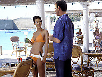 HALLE BERRY and PIERCE BROSNAN in James Bond film: Die Another Day (2002)<br /> *Filmstill - Editorial Use Only*<br /> CAP/PLF<br /> Supplied by Capital Pictures