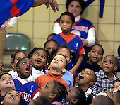 Championship bling:  Students at McIntyre Elementary School not only heard about the benefits of a good education from Detroit Piston's representives, but also got a chance to admire a NBA Championship ring up close at the school Monday.