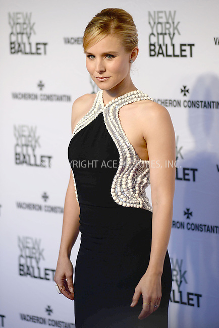 WWW.ACEPIXS.COM<br /> May 8, 2014 New York City<br /> <br /> Kristen Bell attends the New York City Ballet 2014 Spring Gala at David H. Koch Theater, Lincoln Center on May 8, 2014 in New York City.<br /> <br /> Please byline: Kristin Callahan<br /> <br /> ACEPIXS.COM<br /> <br /> Tel: (212) 243 8787 or (646) 769 0430<br /> e-mail: info@acepixs.com<br /> web: http://www.acepixs.com