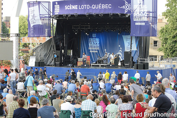 Sean Pinchin from Toronto on stage  at the Montreal International Jazz Festival