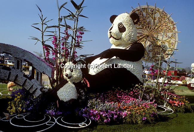 Panda Float entry in the Pasadena Tournament of Roses Parade on New Year's Day