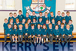 First day of school for junior infants at the Holy Family NS Rathmore pictured last Monday.