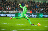 Adrian of West Ham United during the Barclays Premier League match between Swansea City and West Ham United played at the Liberty Stadium, Swansea  on December 20th 2015