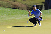 Russell Knox (SCO) on the 3rd green during Saturday's Round 3 of the 2018 Turkish Airlines Open hosted by Regnum Carya Golf &amp; Spa Resort, Antalya, Turkey. 3rd November 2018.<br /> Picture: Eoin Clarke | Golffile<br /> <br /> <br /> All photos usage must carry mandatory copyright credit (&copy; Golffile | Eoin Clarke)