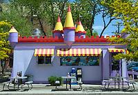 Castle shaped diner in Colorado Springs, Colorado.