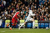 18th March 2018, Santiago Bernabeu, Madrid, Spain; La Liga football, Real Madrid versus Girona; Gareth Bale (Real Madrid) beats Jonás Ramalho along the wing