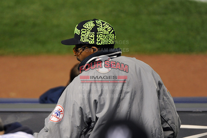 New York Yankees fan Spike Lee during ALDS game #5 against the Detroit Tigers at Yankee Stadium on October 06, 2011 in Bronx, NY.  Detroit defeated New York 3-2 to take the series 3 games to 2 games.  Tomasso DeRosa/Four Seam Images