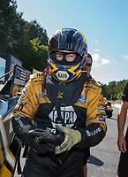 May 5, 2019; Commerce, GA, USA; NHRA funny car driver Ron Capps after winning the Southern Nationals at Atlanta Dragway. Mandatory Credit: Mark J. Rebilas-USA TODAY Sports