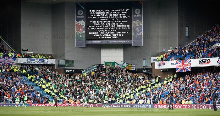01.09.2019 Rangers v Celtic: Rangers and Celtic fans