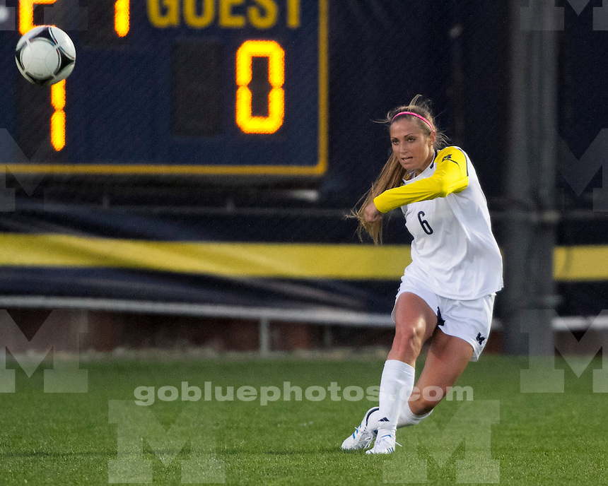The University of Michigan women's soccer team lost to Illinois, 3-2 (OT), at the UM Soccer Stadium in Ann Arbor, Mich., on October 27, 2012.