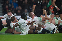 Twickenham, United Kingdom, Saturday, 10th  November 2018, RFU, Rugby, Stadium, England,    Quilter, Autumn International, England vs New Zealand, England celebrate Dyan HARTLEY, hidden try, © Peter Spurrier