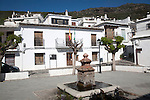 Houses in the village of Bubion, High Alpujarras, Sierra Nevada, Granada province, Spain