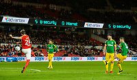 Preston North End's Paul Gallagher scores his side's equalising goal to make the score 1-1<br /> <br /> Photographer Alex Dodd/CameraSport<br /> <br /> The EFL Sky Bet Championship - Middlesbrough v Preston North End - Wednesday 13th March 2019 - Riverside Stadium - Middlesbrough<br /> <br /> World Copyright &copy; 2019 CameraSport. All rights reserved. 43 Linden Ave. Countesthorpe. Leicester. England. LE8 5PG - Tel: +44 (0) 116 277 4147 - admin@camerasport.com - www.camerasport.com