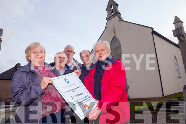 To celebrate the Jubilee Year of Mercy a Parish Mission will take place in Castlegregory Parish from 15th to the 18th February inclusive. Pictured were: Margaret  Filgate, James Kildea, Vincent  Filgate, Martin Finn and Pat Flynn.