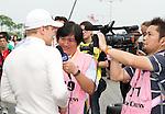 Galaxy Double R Racing Team driver Valtteri Bottas is interviewed ahead of the 2011 Macau Formula 3 Grand Prix on 20th November 2011. © Raf Sanchez / PSI for Galaxy Macau
