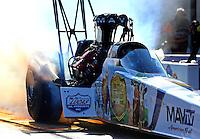 Sep 14, 2013; Charlotte, NC, USA; NHRA top fuel dragster driver Brandon Bernstein during qualifying for the Carolina Nationals at zMax Dragway. Mandatory Credit: Mark J. Rebilas-