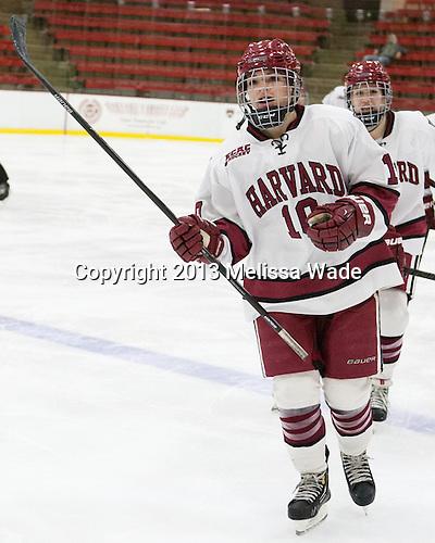 Gina McDonald (Harvard - 10) - The Harvard University Crimson defeated the visiting Boston University Terriers 3-1 on Friday, November 22, 2013, at Bright-Landry Hockey Center in Cambridge, Massachusetts.
