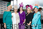 Janet Grunau (Tralee), Lilian White (Limerick), Sinead Sexton (Templeglantine), Catherine Hayes (Knockaderry) and Jill Duggan (Killarney), enjoying Ladies Day at Listowel Races on Friday last.