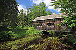 Covered bridge at Leonards Mills, Bradley, Maine, USA