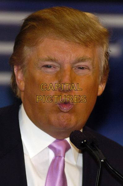 """DONALD TRUMP.News conference for """"Wrestlemania 23"""" at Trump Tower, New York, New York, USA..March 28th, 2007.headshot portrait funny face .CAP/ADM/BL.©Bill Lyons/AdMedia/Capital Pictures *** Local Caption ***"""