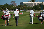 DORAL, FL. - Phil Mickelson gives a fan a thumbs up during final round play at the 2009 World Golf Championships CA Championship at Doral Golf Resort and Spa in Doral, FL. on March 15, 2009