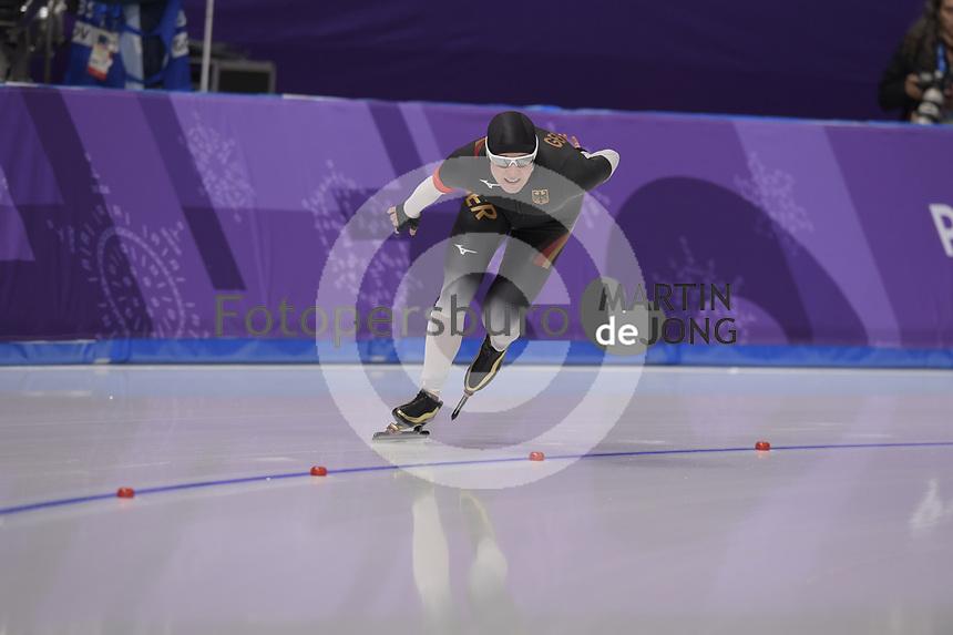OLYMPIC GAMES: PYEONGCHANG: 16-02-2018, Gangneung Oval, Long Track, 5.000m Ladies, Claudia Pechstein (GER), ©photo Martin de Jong