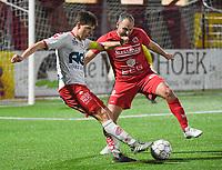 FC GULLEGEM - KV KORTRIJK :<br /> vriendschappelijke wedstrijd<br /> Hannes Van Der Bruggen (L) en Martijn Monteyne (R)<br /> <br /> Foto VDB / Bart Vandenbroucke