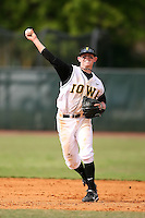 February 22, 2009:  Second baseman Justin Toole (2) of the University of Iowa during the Big East-Big Ten Challenge at Naimoli Complex in St. Petersburg, FL.  Photo by:  Mike Janes/Four Seam Images