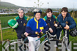 WHEELS OF FIRE: Members of the Skellig Stars Special Olympics Club from South Kerry getting ready for the Ring of Kerry Charity Cycle where they will be one of the organisations to benefit from the event.. L/r.  Kevin Murphy (Valentia), Ann Kelly (Caherciveen), Joe Curran (Portmagee) and  Helen Kissane (Renard).
