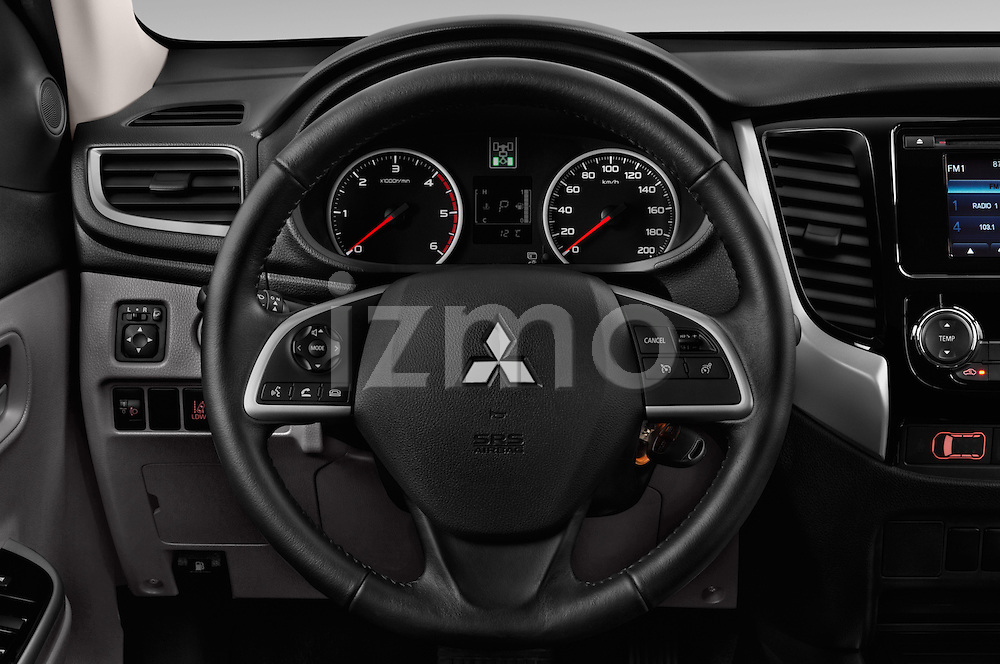Car pictures of steering wheel view of a 2016 Mitsubishi L 200 Intense 4 Door Pickup Steering Wheel
