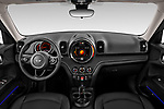 Stock photo of straight dashboard view of 2020 MINI Countryman Cooper-Signature 5 Door Hatchback Dashboard