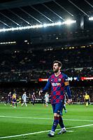 2nd February 2020; Camp Nou, Barcelona, Catalonia, Spain; La Liga Football, Barcelona versus Levante; Lionel Messi of FC Barcelona comes out for a corner kick