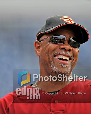 12 July 2008: Houston Astros Manager Cecil Cooper watches batting practice prior to a game against the Washington Nationals at Nationals Park in Washington, DC. The Astros defeated the Nationals 6-4 in the second game of their 3-game series...Mandatory Photo Credit: Ed Wolfstein Photo