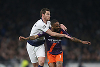 Tottenham Hotspur's Jan Vertonghen and Manchester City's Raheem Sterling<br /> <br /> Photographer Rob Newell/CameraSport<br /> <br /> UEFA Champions League Quarter-finals 1st Leg - Tottenham Hotspur v Manchester City - Tuesday 9th April 2019 - White Hart Lane - London<br />  <br /> World Copyright © 2018 CameraSport. All rights reserved. 43 Linden Ave. Countesthorpe. Leicester. England. LE8 5PG - Tel: +44 (0) 116 277 4147 - admin@camerasport.com - www.camerasport.com