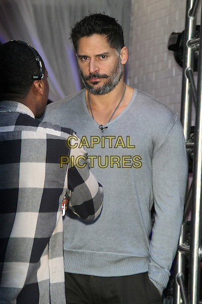 NEW YORK, NY - JUNE 22: Joe Manganiello at Good Morning America promoting Magic Mike XXL in New York City on June 22, 2015. <br /> CAP/MPI/RW<br /> &copy;RW/MPI/Capital Pictures