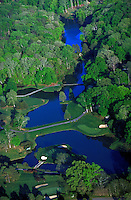 The Golden Horseshoe Golf Course at Colonial Williamsburg, Virginia. The signature 18th hole is on the water. Resorts, Recreation. Williamsburg Virginia USA Tidewater.