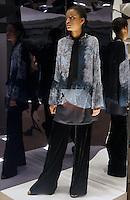 Model in Look 4: Haunted Wallpaper Top, Kaleidoscope Paisley Dress, Black Velvet Pant
