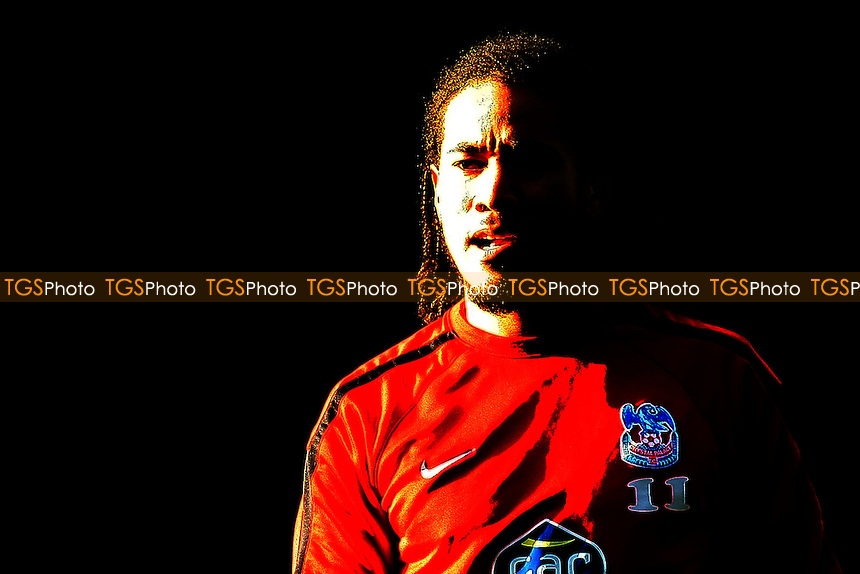 Sean Scannell (Crystal Palace) in bright sunlight- Crystal Palace vs Leicester City - nPower Championship Football at Selhurst Park Stadium, London - 02/01/12 - MANDATORY CREDIT: George Phillipou/TGSPHOTO - Self billing applies where appropriate - 0845 094 6026 - contact@tgsphoto.co.uk - NO UNPAID USE.