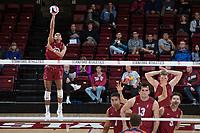 STANFORD, CA - March 3, 2018: Jaylen Jasper at Maples Pavilion. The Stanford Cardinal lost to Pepperdine, 3-0.