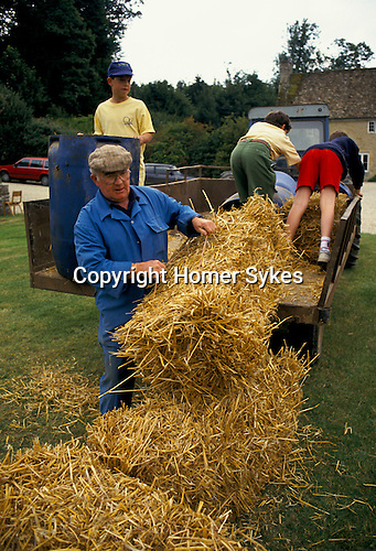 'ENGLISH VILLAGE FETE', PREPARATION OF THE BOWLING ALLEY FOR THE FETE.