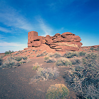 Wukoki Ruin in Wupatki National Monument, near Flagstaff, Arizona, USA - Ancestral Puebloan / Anasazi House, Dwelling Ruins