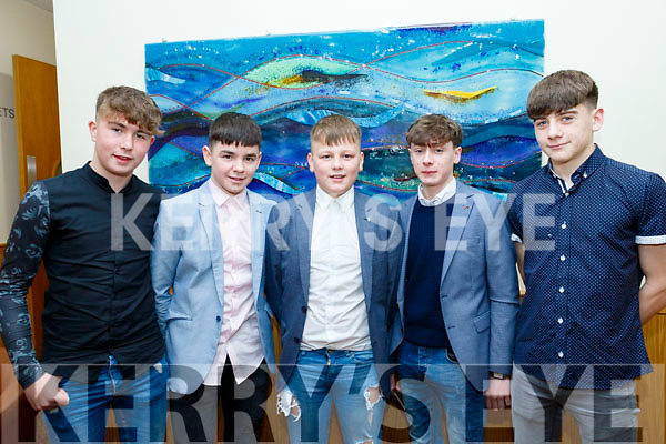 At the Kerry Comogie 'Stars in their Eyes' concert last Saturday night in the Ballyroe heights hotel, Tralee were L-R Darragh Quinlan, Tommy O'Grady, Aaron McCabe, Adam Farrell&Adam Segal.