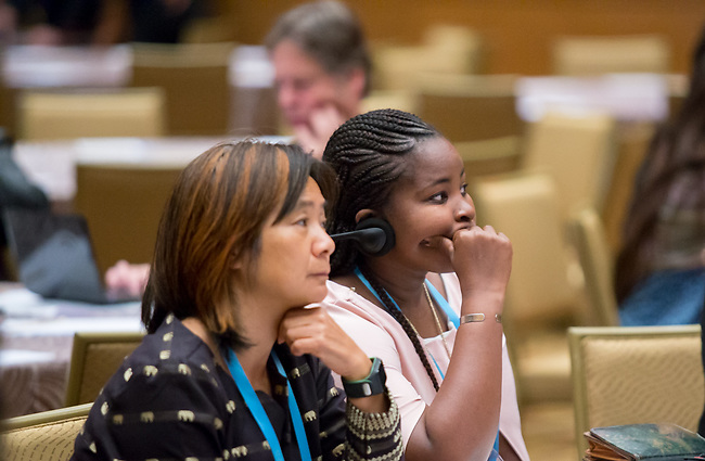 27 June, 2018, Kuala Lumpur, Malaysia : Participants listening during the #youthdeliver seminar on the third day at the Girls Not Brides Global Meeting 2018 at the Kuala Lumpur Convention Centre. Picture by Graham Crouch/Girls Not Brides