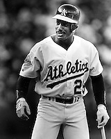 Oakland Athletics outfielder Ruben Sierra.<br />