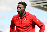 Fleetwood Town player Devante Cole inspects the pitch on arrival at the Sixfields Stadium<br /> <br /> Photographer Andrew Kearns/CameraSport<br /> <br /> The EFL Sky Bet League One - Northampton Town v Fleetwood Town - Saturday August 12th 2017 - Sixfields Stadium - Northampton<br /> <br /> World Copyright &copy; 2017 CameraSport. All rights reserved. 43 Linden Ave. Countesthorpe. Leicester. England. LE8 5PG - Tel: +44 (0) 116 277 4147 - admin@camerasport.com - www.camerasport.com