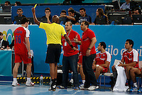 15.01.2013 World Championshio Handball. Match between Algeria vs Egypt (24-24) at the stadium La Caja Magica. The picture show